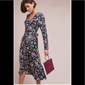 ‼️HTF NWT Anthropologie Willow Wrap Dress 8‼️